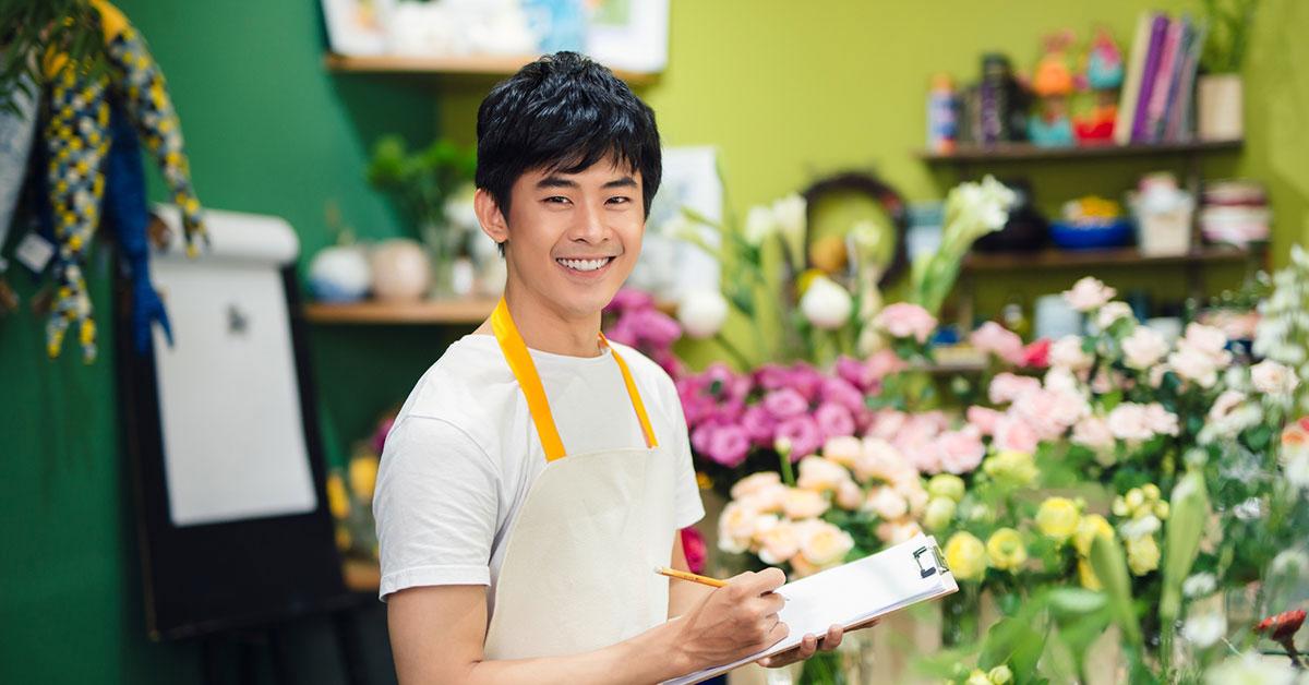 penjaga toko