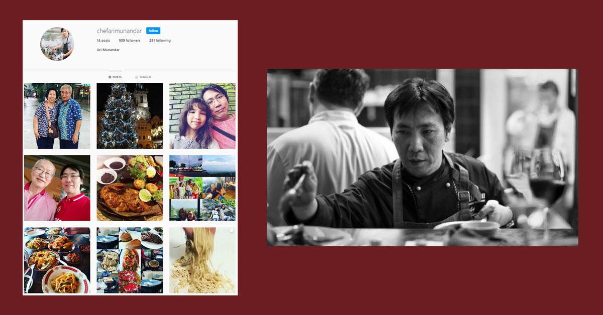 Chef Ari Munandar instagram
